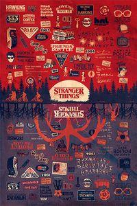 Stranger Things Poster The Upside Down 91,5 x 61 cm