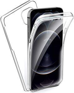 "iPhone 12 Pro Max Full Cover Silikon 6.7"" Transparent Schutzhülle TPU 360° Hülle"