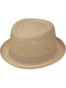 Sehr leichter Pork Pie Hut in 2 Farben, Kopfgröße:59, Farben:natur