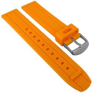 Timex Allied | Uhrenarmband 20mm orange Kunststoff | TW2R67400