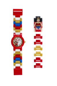 LEGO Helden: Wonder Woman Uhr rot