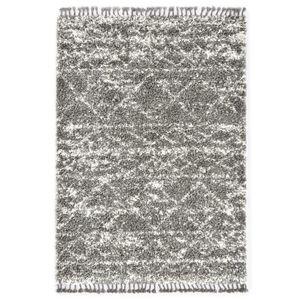vidaXL Berberteppich Hochflor PP Grau und Beige 160 × 230 cm