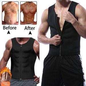 Herren Neopren Schlankheitsweste Cami Gym Frauen Hot Body Sauna Sweat Thermal Shaper XXL Schwarz Shapewear Tops formen