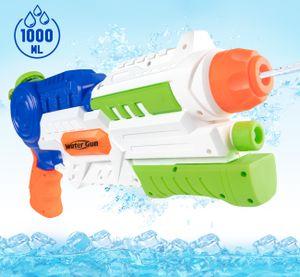 ilauke Wasserpistole mit ca.1 L Wassertank, Pump-Action – Wasserblaster mit 10M/ 32.8FT Reichweite, HY1485