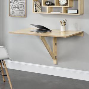 [en.casa]® Klappbarer Schreibtisch 100x60x58cm Wandtisch Tisch Wandklapptisch ausklappbar
