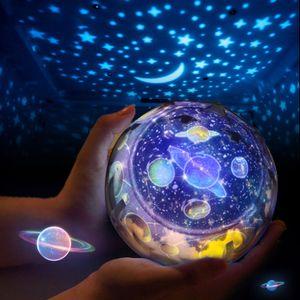 Kinder Nachtlicht Sternenhimmel Projektor,360-Grad Drehung LED Sternenprojektor Baby mit 7 Gruppen Film, Kinder Nachtlampe