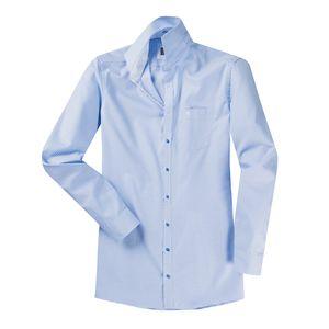 CasaModa blau-weißes Hemd extra langer Arm XXL , Kragenweite:44