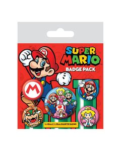 Super Mario Ansteck-Buttons 5er-Pack