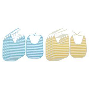 10 Stück Wasserdicht Baby Lätzchen Jungen Spucktuch Lätzchen Baumwolle Bedruckte Webkante Saugfähig Sabberlätzchen