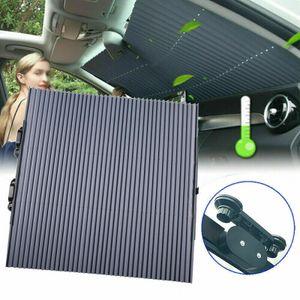Miixia 65cm Auto Frontscheibe Sonnenschutz Einziehbare Rollo Saugnapf UV Schutz Sonnenblende
