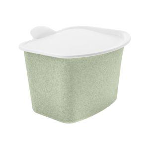 koziol 5605668 BIBOAbfall-Behälter, robuster Kunststoff, 22,5 x 20,8 x 16 cm, organic green