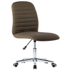 Bürostuhl Drehbar Schreibtischstuhl Chefsessel Braun Stoff