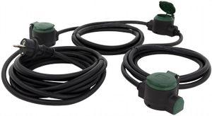 REV Verlängerung Suprafelx IP 44 schwarz/grün