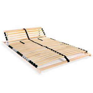 Perfekt® Komfort Lattenrost,Rollrost,Hochwertiger Extra starker,Rolllattenrost mit 28 Latten 7 Zonen 100 x 200 cm❤