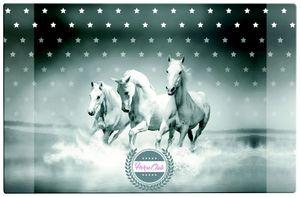 """Schreibtischunterlage / Größe: 68x44cm / """"Pferde"""""""