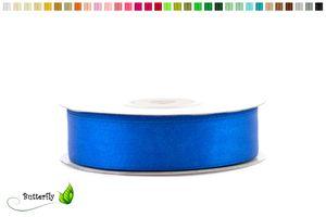 25m Rolle Satinband 18mm , Farbauswahl:blau 352 / königsblau / royalblau