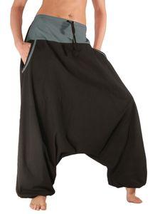 Aladinhose mit Taschen, Haremshose aus Baumwolle in Einheitsgröße, Leucht-Welten Modell P4