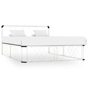 Bettgestell Hochwertiger | Doppelbett | Klassische Bette Weiß Metall 140×200 cm #DE53495