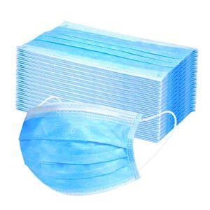 50Pcs Atemschutzmasken, Mundschutz 3-lagig Vlies,Einwegmasken,Infektionsschutz,Schutzmaske,Mundschutzmasken,Staubdichte Schönheitsmaske,Staubdicht,Anti-Speichel
