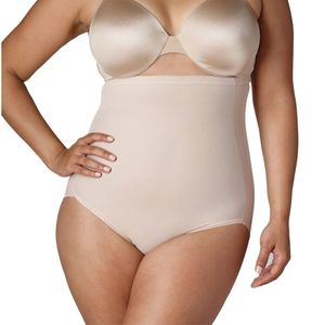 Naomi & Nicole Shapewear Damen - Bauchweg Unterhose Damen (Pluz Size 1X-5X) Body Shaper Miederhose Bauch weg - Figurformende Wäsche, Farben:Haut (SK), Größe:1X (48)