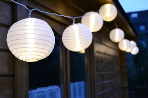 LED Lichterkette 20er Lampions 7,5cm warmweiß 4,75m lang FHS 18313