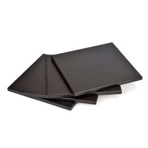 GRÄWE Pizzastein 4 Stück, 19 x 19 cm, schwarz
