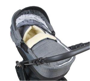 BABYLUX Fußsack Wolle 90cm Winterfußsack Kinderwagen Babyschale 55.LEIN Opti