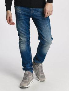 Cipo & Baxx Männer Straight Fit Jeans Premium in blau Cipo & Baxx