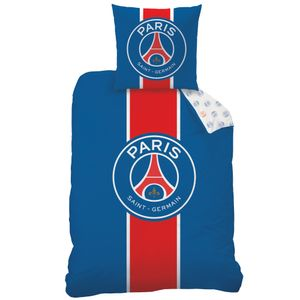 Paris Saint-Germain Bettwäsche 80x80 + 135x200 cm · PSG Fußball Bettwäsche - 100% Baumwolle