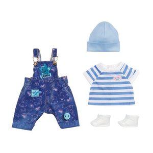 BABY born Deluxe Jeans Latzhosen Set 43 cm
