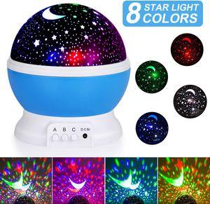 SUNNEST Sternenhimmel Projektor Baby Nachtlicht LED, 360° Rotierend Projektionslampe Romantische LED Perfekt für Party, Kinderzimmer