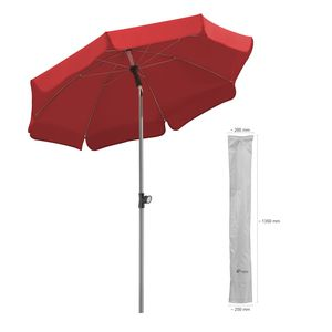 Sonnenschirm Locarno 150/8 rot + Schutzhülle