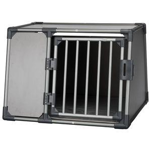 TRIXIE Hunde-Transportbox Größe L Aluminium Graphitgrau 39338