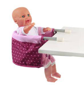 Bayer Chic 2000 Puppen-Tisch-Sitz Dessin Dots Brombeere 735 29