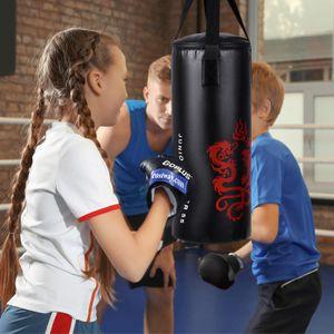 GOPLUS 10 kg Boxsack Set, Kinder Boxset, Boxing Set mit Boxhandschuhe & Springseil, Punching Bag mit Füllung, aus Kunstleder, inkl. Tragetasche & Deckenhalterung, für Kinder und Jugendliche