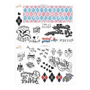 Cinereplicas DC Comics Tattoos 40-er Set Harley Queen HPE560417