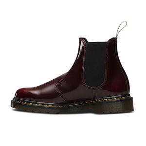Dr. Martens 2976 Vegan Damen Stiefelette Rot Schuhe, Größe:37