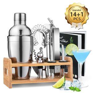 15 Teile / satz Cocktail Bartender Bar Set cocktail shaker Kit mit Ständer