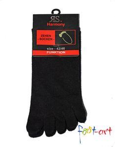 2 Paar Zehensocken Baumwolle Zehenstrumpf fünf Zehen Socken Damen Herren Toe Gr. 36/41