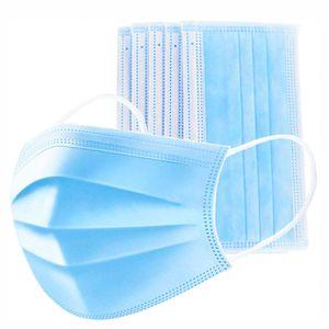 100 Stück Schutzmaske Mundschutz Gesichtsmaske 3-lagig Maske NEU