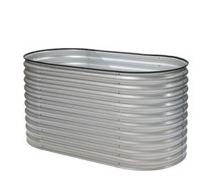 Westmann Metall Hochbeet Oval silber 160x80x82 cm Pflanzbeet Pflanzkasten