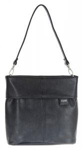 ZWEI Umhänge Tasche MADEMOISELLE M8 mit langem & kurzem Gurt in vielen Farben, Farbe:noir / schwarz