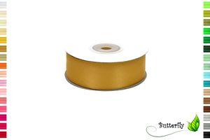 25m Rolle Satinband 25mm, Farbauswahl:weiß 029