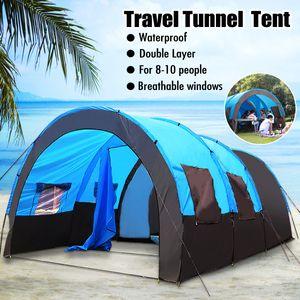 Tunnelzelt Familienzelt 8-10 Personen Campingzelt Gruppenzelt Outdoor Reise Zelt