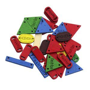 30 Stück Gemischte Geometrische Holzknöpfen Holz knopf Annähen