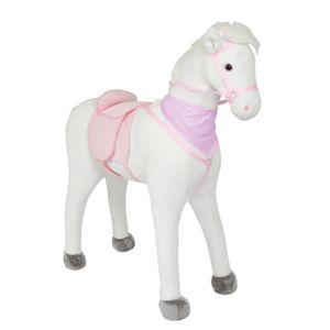 """Pink Papaya Riesenpferd """"Luna"""" 105 cm Stehpferd bis 100 kg belastbar Super Plüsch Reitpferd mit Sound"""