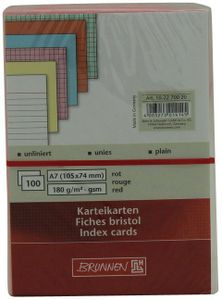 Schneider Karteikarten A7 unliniert rot 100 Stück