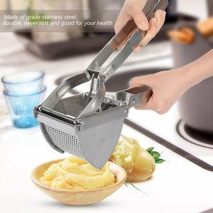 Kartoffelpresse & Spätzlepresse aus Edelstahl Gemüse Reibe Kartoffel Presse