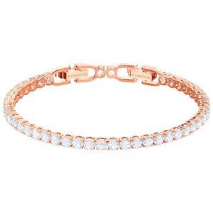 Swarovski 5464948 Tennis Armband, weiss, rosé Vergoldung