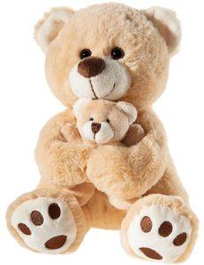 Heunec Plüschtier Bär hellbraun mit Baby